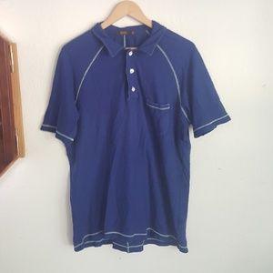 Agave Dark Blue Collared Mens Shirt